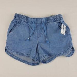 Old Navy Girls Blue Cotton Shorts Size Medium (8)